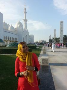 @Grand Zayed Mosque w/  Hubby <333